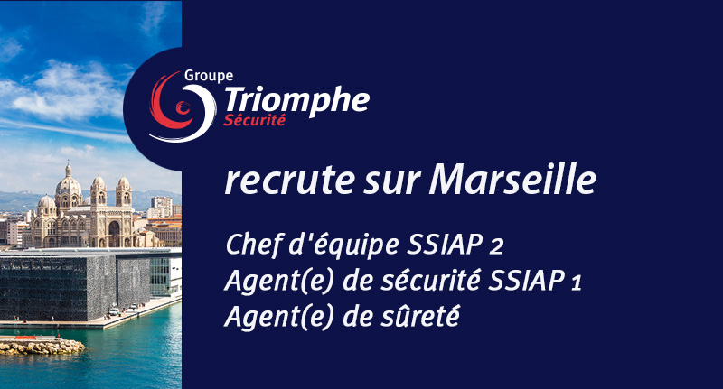 le groupe triomphe s curit recrute sur marseille. Black Bedroom Furniture Sets. Home Design Ideas